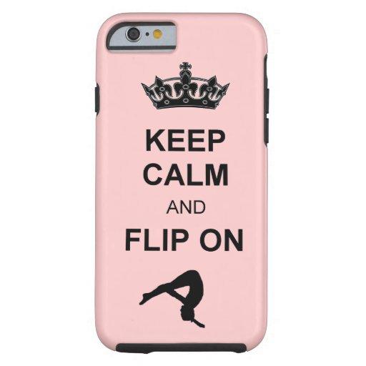 Guarde la calma y mueva de un tirón en caer funda de iPhone 6 tough