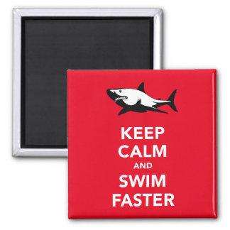 Guarde la calma y nade un imán más rápido del