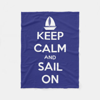 Guarde la calma y navegue en el paño grueso y manta de forro polar