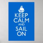 Guarde la calma y navegue en el poster