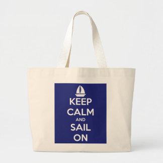 Guarde la calma y navegue en la bolsa de asas enor