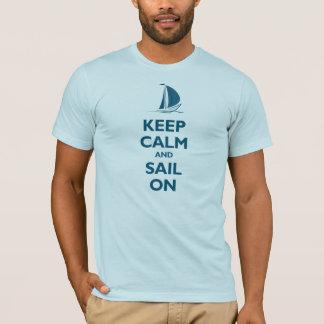 Guarde la calma y navegue en (la costa) playera