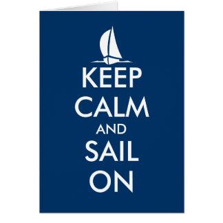 Guarde la calma y navegue en la tarjeta de