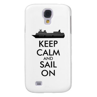 Guarde la calma y navegue en personalizado del funda samsung s4