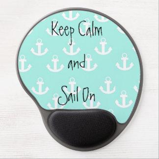 Guarde la calma y navegue encendido alfombrillas de raton con gel