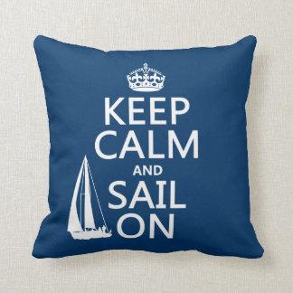 Guarde la calma y navegue encendido - todos los co cojin