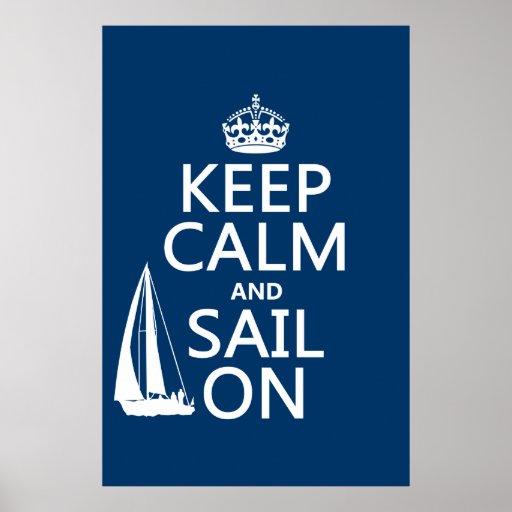 Guarde la calma y navegue encendido - todos los co impresiones