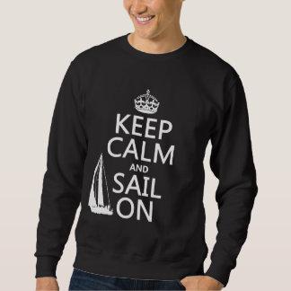 Guarde la calma y navegue encendido - todos los suéter