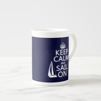 Guarde la calma y navegue encendido - todos los taza de té