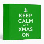 Guarde la calma y Navidad encendido