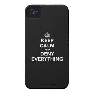 Guarde la calma y niegue todo iPhone 4 coberturas