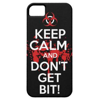 Guarde la calma y no consiga a zombis del zombi de funda para iPhone SE/5/5s