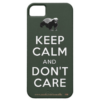 Guarde la calma y no cuide iPhone 5 fundas