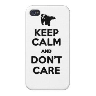 guarde la calma y no cuide la caja del teléfono de iPhone 4 coberturas
