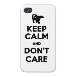 guarde la calma y no cuide la caja del teléfono de iPhone 4/4S funda