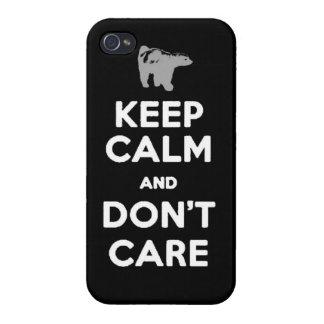 guarde la calma y no cuide la caja del teléfono de iPhone 4 carcasa