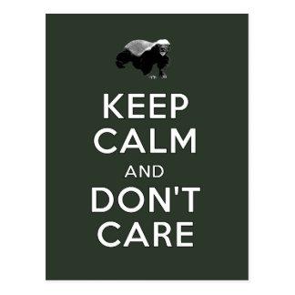 Guarde la calma y no cuide postal