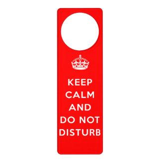 Guarde la calma y no la perturbe colgantes para puertas