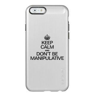 GUARDE LA CALMA Y NO SEA MANIPULADOR FUNDA PARA iPhone 6 PLUS INCIPIO FEATHER SHINE