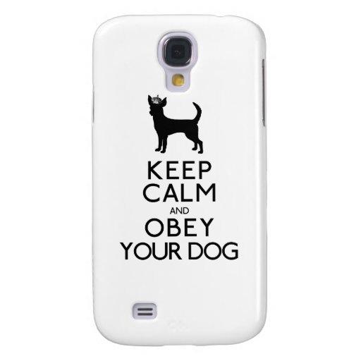 Guarde la calma y obedezca su perro