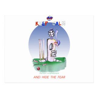 guarde la calma y oculte el miedo, fernandes tony tarjetas postales
