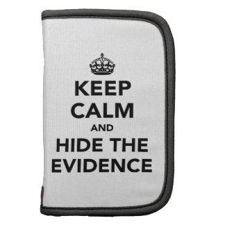 Guarde la calma y oculte las pruebas organizador