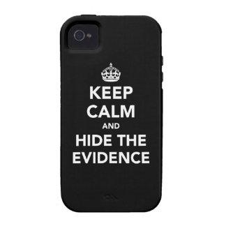 Guarde la calma y oculte las pruebas iPhone 4 carcasa