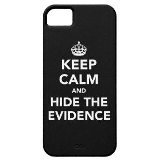 Guarde la calma y oculte las pruebas iPhone 5 Case-Mate carcasas