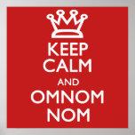 Guarde la calma y Omnomnom Posters