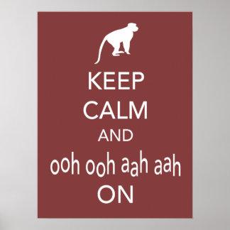 Guarde la calma y Ooh Ooh Aah Aah en el poster del