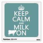 Guarde la calma y ordeñe en (las vacas) (en todos