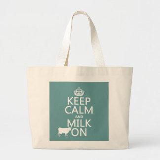 Guarde la calma y ordeñe en (las vacas) (en todos  bolsa