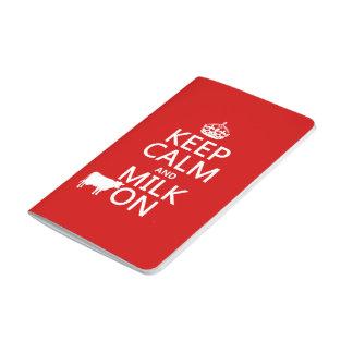Guarde la calma y ordeñe en (las vacas) (en todos cuadernos