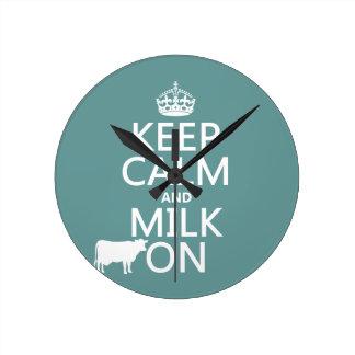 Guarde la calma y ordeñe en (las vacas) (en todos  reloj