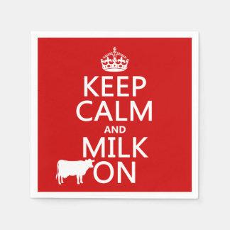 Guarde la calma y ordeñe en (las vacas) (en todos servilletas desechables