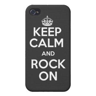 Guarde la calma y oscile en el caso iPhone 4/4S fundas