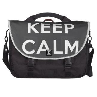 Guarde la calma y oscile encendido bolsas para portátil