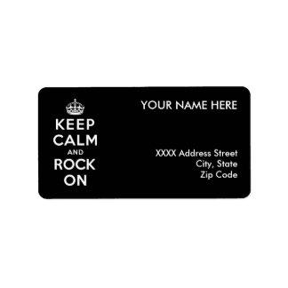 Guarde la calma y oscile encendido etiqueta de dirección