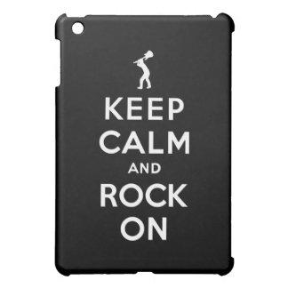 Guarde la calma y oscile encendido iPad mini protector