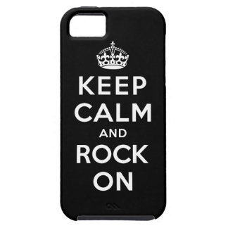 Guarde la calma y oscile encendido funda para iPhone 5 tough