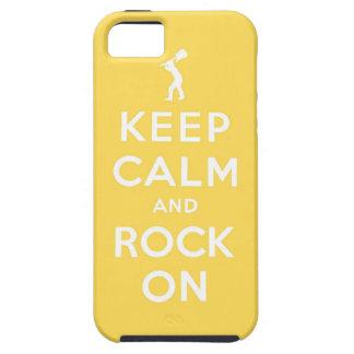 Guarde la calma y oscile encendido funda para iPhone SE/5/5s