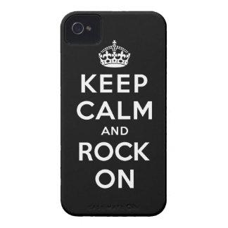 Guarde la calma y oscile encendido iPhone 4 carcasa