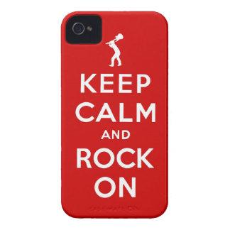 Guarde la calma y oscile encendido iPhone 4 Case-Mate funda