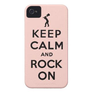 Guarde la calma y oscile encendido iPhone 4 funda
