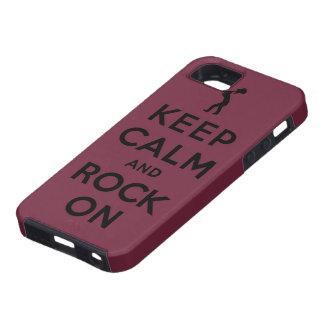 Guarde la calma y oscile encendido iPhone 5 carcasa