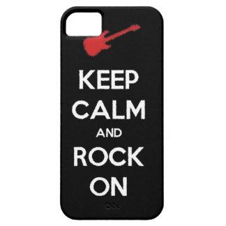 guarde la calma y oscile encendido iPhone 5 carcasas