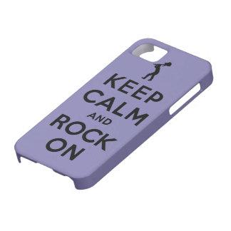 Guarde la calma y oscile encendido iPhone 5 funda