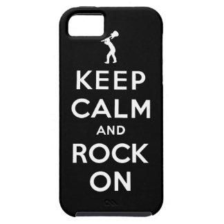 Guarde la calma y oscile encendido iPhone 5 fundas