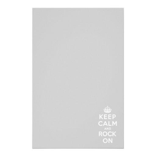 Guarde la calma y oscile encendido papeleria de diseño
