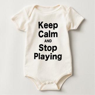 Guarde la calma y pare el jugar body para bebé